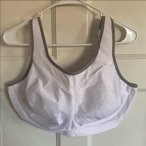 Glamorise elite white unlined underwire sports bra